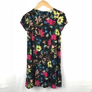 H&M Floral Short Sleeve Dress Size 4